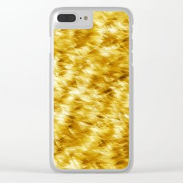 Autumn On A Windy Day Clear iPhone Case