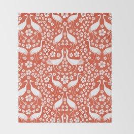 Beautiful Cranes Throw Blanket
