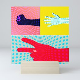 Rock Paper Scissors Mini Art Print