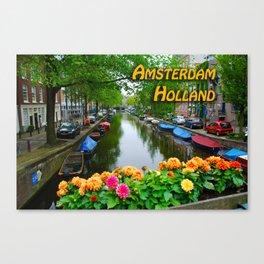Amsterdam Holland Canal Canvas Print
