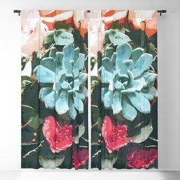 Succulent Floral Blackout Curtain