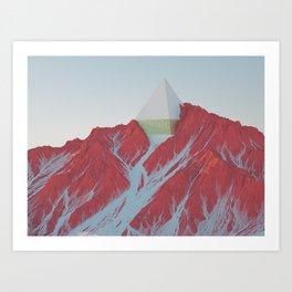 MOUNT PYRAMID Art Print
