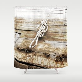 Nautical Rope in Sepia Shower Curtain