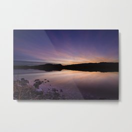 Pahranagat National Wildlife Refuge Sunset #2 Metal Print