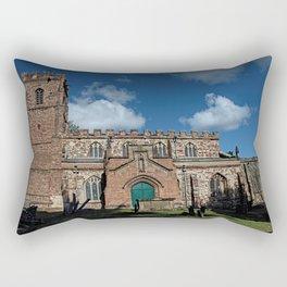 St Botolph's Church, Rugby, Warwickshire Rectangular Pillow