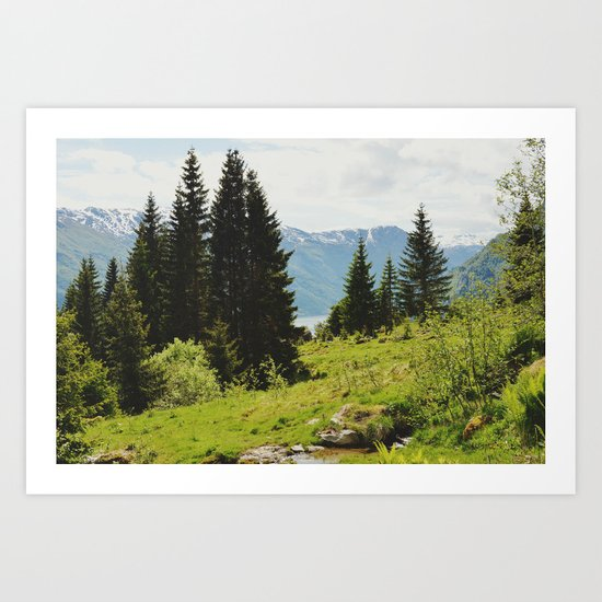 the forest and the fjords Art Print