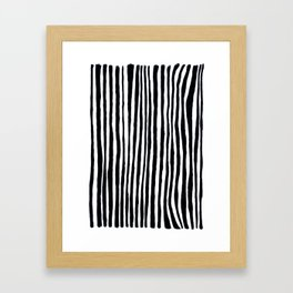 Black Stripes Framed Art Print