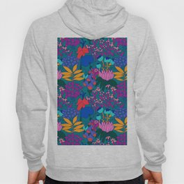 Psychedelic Jungle Garden in Pond Teal Hoody