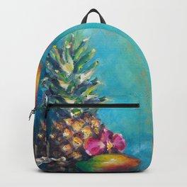 Tropical Dreams: Pineapple Painting by Betsy VanDeusen Backpack