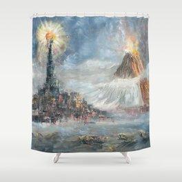 Hostile Landscape Shower Curtain