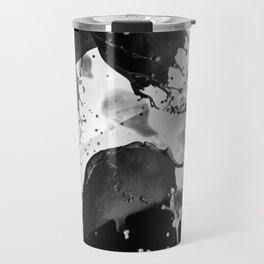 Black and white drops Travel Mug