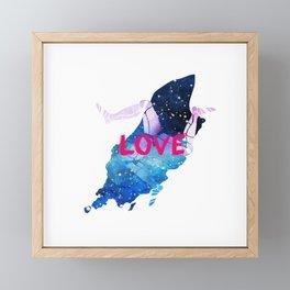 Love the Isle of Man Framed Mini Art Print