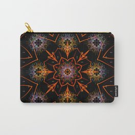 Floral Fractals Carry-All Pouch