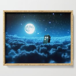 Tardis Cloud And Moon Serving Tray