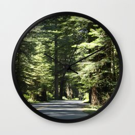 Humboldt Redwoods State Park Road Wall Clock