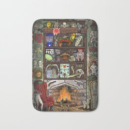 Creepy Cabinet of Curiosities Bath Mat