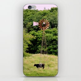 wind powered cow iPhone Skin