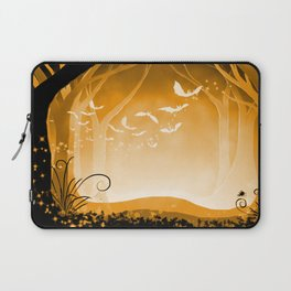 Dark Forest at Dawn in Amber Laptop Sleeve