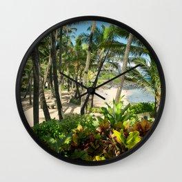 Kuau Beach Cove Paia Maui Hawaii Wall Clock