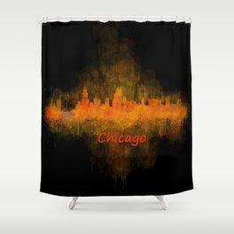 Chicago City Skyline Hq v4 Shower Curtain
