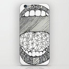 Pattern-scream iPhone Skin