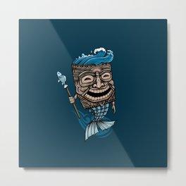Tiki Merman Metal Print