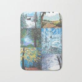 All Seasons Collage Bath Mat