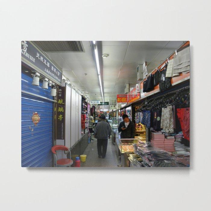 Shopping in Shanghai  Metal Print