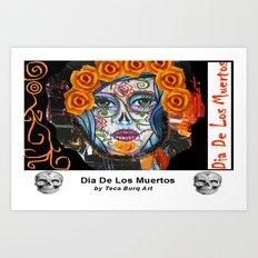 Dia de Los Muertos Mixed Media Art Print