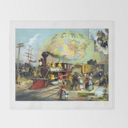 Transcontinental Railroad Throw Blanket