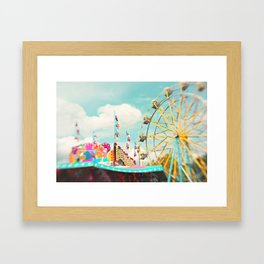 summer carnival fun Framed Art Print