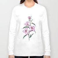 botanical Long Sleeve T-shirts featuring Botanical Illustration  by Sobottastudies