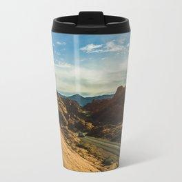 driving through fire Metal Travel Mug