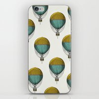 hot air balloons iPhone & iPod Skins featuring Hot Air Balloons by Juste Pixx Designs