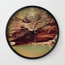 Falls in the Forest Wall Clock