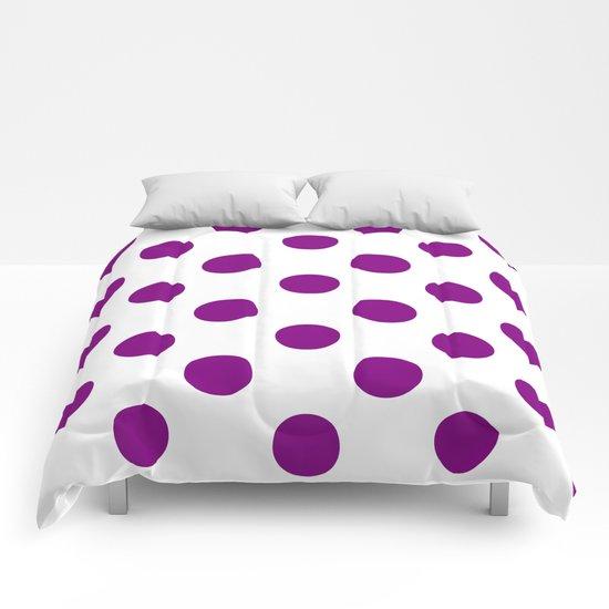 Polka Dots (Purple/White) Comforters