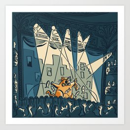 Cats on Broadway (October 8th, 1982) Art Print