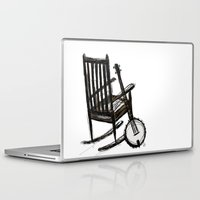 banjo Laptop & iPad Skins featuring Grandma's Banjo by LeahOwen