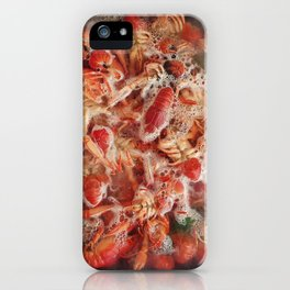 Cooking crayfish at home iPhone Case