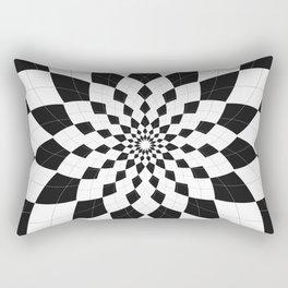 Black & White Argyle Rectangular Pillow