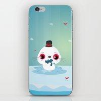 seal iPhone & iPod Skins featuring Seal by Maria Jose Da Luz
