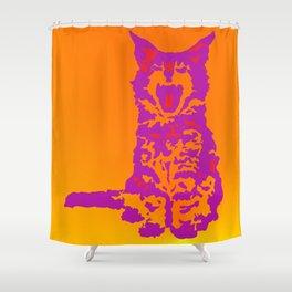 Screaming Kitten (Gradient) Shower Curtain