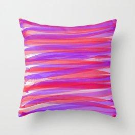 Tertiary Ribbons Throw Pillow