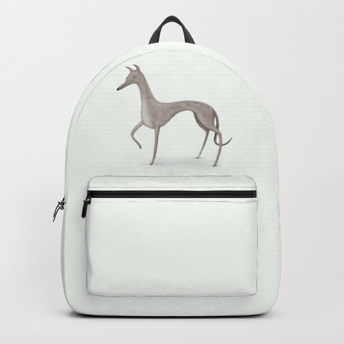 Whippet Portrait Backpack
