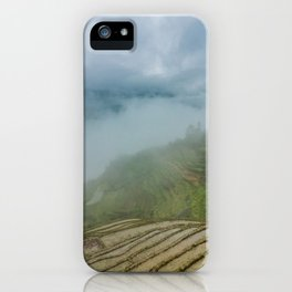 Misty View of Longj Rice Terraces iPhone Case
