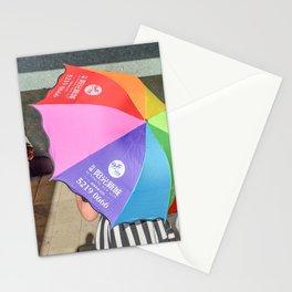 le parapluie et l'accordéon Stationery Cards