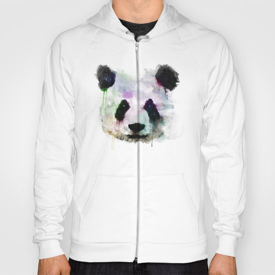 Panda Face - Watercolor Hoody