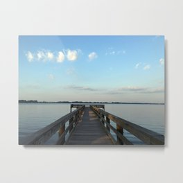 Saturday on the River Metal Print