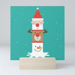 Holiday Totem Mini Art Print