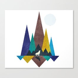 Moonlight Wolves Canvas Print